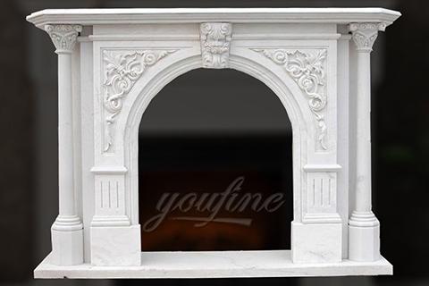 Декоративный львиный головной мраморный камин в Викторианском стиле