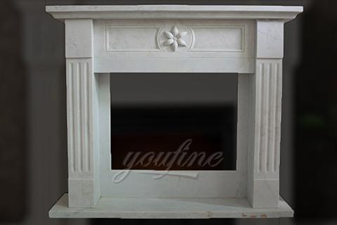 2017 крытый современный белый мраморный камин Регентской эпохи