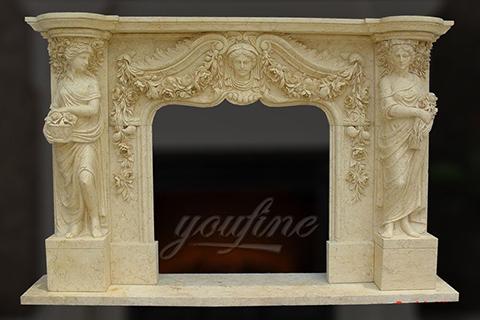 Декоративный классический мраморный каминный портал